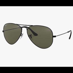 NWT! Ray Ban Classic Aviator Black Sunglasses 58mm